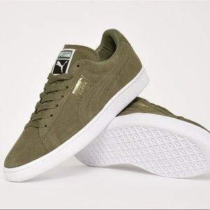 Green Suede Puma Shoes | NWT